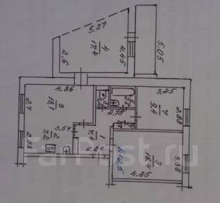 3-комнатная, Железнодорожная 5. Горбуша, частное лицо, 75 кв.м. План квартиры