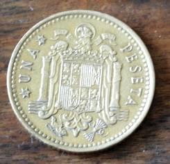 1 песета 1966 Испания