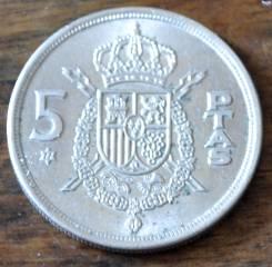 5 песет 1975 Испания