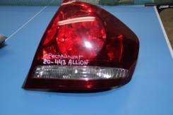 Стоп-сигнал. Toyota Allion, ZZT245, ZZT240, NZT240, AZT240 Двигатели: 1NZFE, 1AZFSE, 1ZZFE