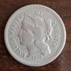 3 цента США 1868