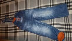 Полукомбинезоны джинсовые. Рост: 104-110, 110-116 см