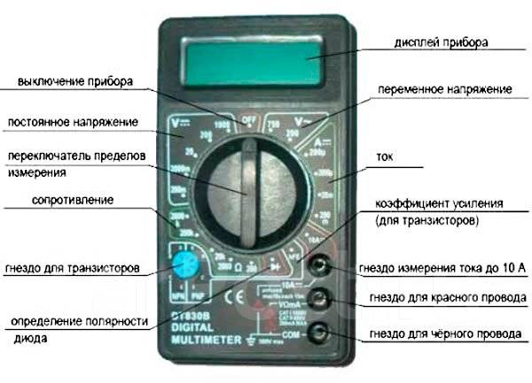 инструкция на мультиметр dt-830b