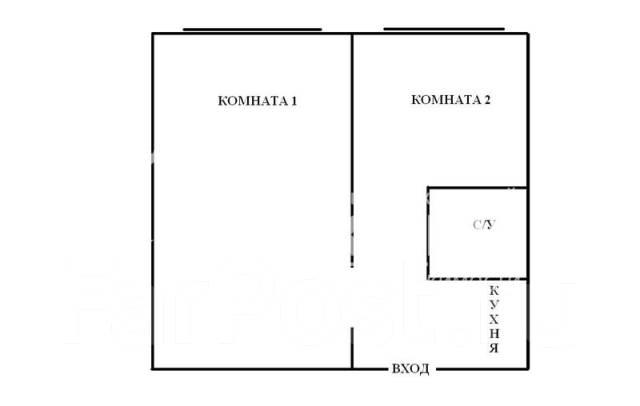 1-комнатная, проспект Народный 17. Третья рабочая, агентство, 35 кв.м. План квартиры