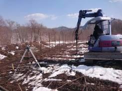 Земляные работы. Монтаж винтовых свай. Услуги по бетонированию.