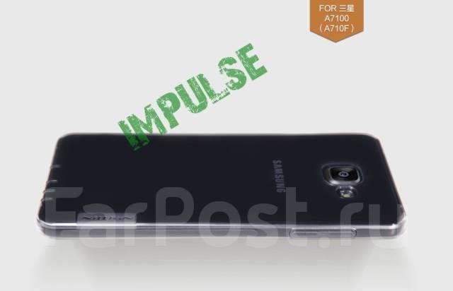 Чехол-накладка для Samsung Galaxy A7 2016 Nillkin Tpu Прозрачный