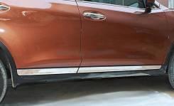 Молдинг боковых дверей Nissan X-Trail T32 2014-2015 (метал) хром. Под заказ