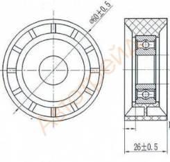Обводной ролик приводного ремня RENAULT LOGAN 04-/SANDERO 09- SAT ST-8200104754