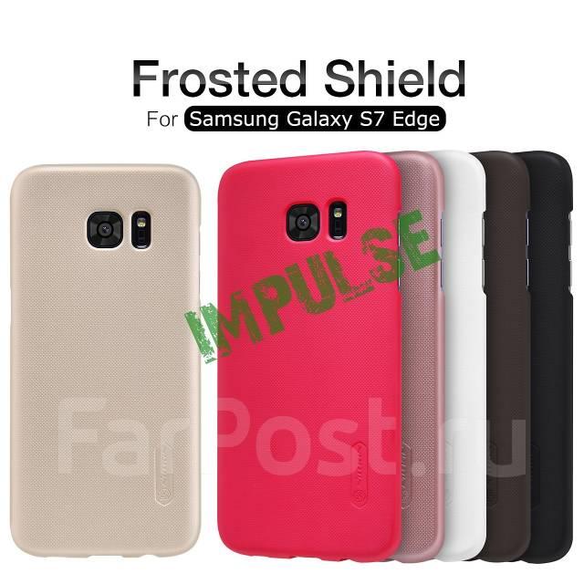 Чехол-накладка для S7 Edge Nillkin Super Frosted Shield Золотой