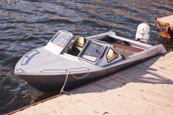 Цельносварная лодка самурай615. Год: 2016 год, длина 6,15м., двигатель подвесной, 172,00л.с., бензин. Под заказ