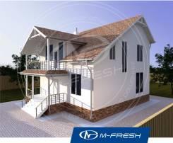 M-fresh Handy-зеркальный (Проект дома из газобетона с балконом). 100-200 кв. м., 2 этажа, 5 комнат, бетон
