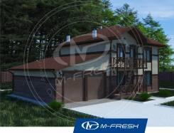 M-fresh Cappuccino (Готовый проект дома с гаражом на две машины! ). 200-300 кв. м., 2 этажа, 5 комнат, бетон