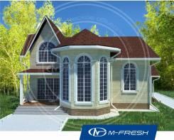 M-fresh Chill out (Проект яркого дома с потрясающим эркером! ). 200-300 кв. м., 2 этажа, 5 комнат, бетон