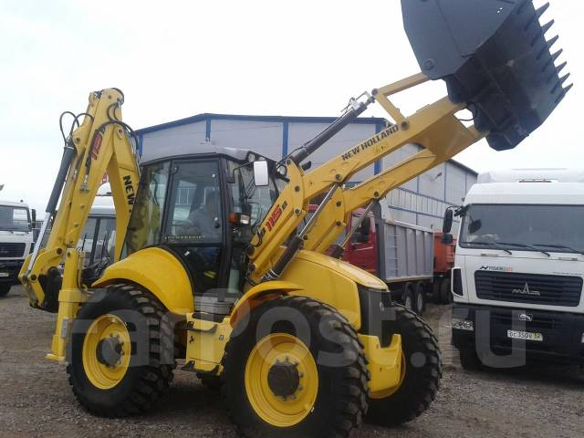 New Holland LB115.B. Экскаватор-погрузчик New Holland В115В, 4 500 куб. см., 0,24 куб. м.