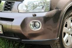 Накладки на передний бампер под туманки X-Trail 10-13. Nissan X-Trail. Под заказ