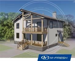 M-fresh Mister Robert-зеркальный (Строительный проект дома с балконом). 200-300 кв. м., 2 этажа, 5 комнат, дерево