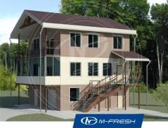 M-fresh Auto plus (Проект дома с гаражом в цокольном этаже). 200-300 кв. м., 3 этажа, 4 комнаты, бетон