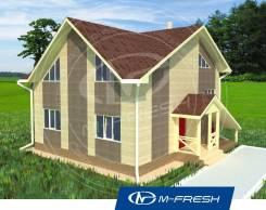 M-fresh James Bond (Готовый проект многоуровневого дома). 200-300 кв. м., 2 этажа, 6 комнат, бетон