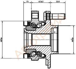 ST-40202-ED000 SAT Ступичный узел FR NISSAN WINGROAD 12/AD/EXPERT/TIIDA/CUBE