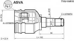 Шрус внутренний 23x34x23 ASVA apт.TYIUYAR15
