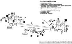 Фаркоп. Nissan X-Trail, T31
