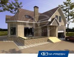 M-fresh Forest action (Готовый проект дома с террасой и гаражом). 200-300 кв. м., 1 этаж, 5 комнат, бетон