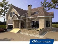 M-fresh Forest action-зеркальный (Проект дома из газобетона с эркером). 200-300 кв. м., 1 этаж, 5 комнат, бетон