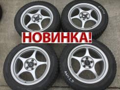 "Легкие диски Enkei Racing 205/55 R16 Dunlop. 7.0x16"" 5x100.00 ET48 ЦО 73,1мм."