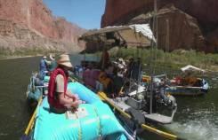 Экпедиционный понтонный катамаран Rubber Craft Grand Canyon. длина 8,00м., двигатель подвесной, 85,00л.с., бензин