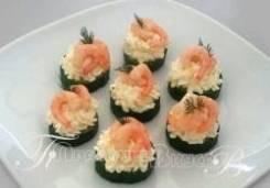 Канапе с креветкой и сливочным сыром (7 шт.) (Праздничное меню)