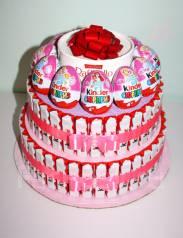 Торт из киндеров. Сладкий подарок