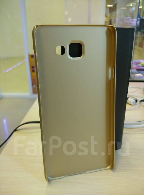 Чехол-накладка для Samsung Galaxy A7 2016 Nillkin Super Frosted Shield Золотой