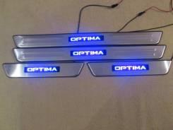 Накладка на порог. Kia Optima, TF Двигатели: G4KJ, G4KD