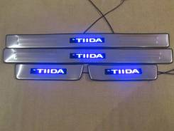 Накладка на порог. Nissan Tiida