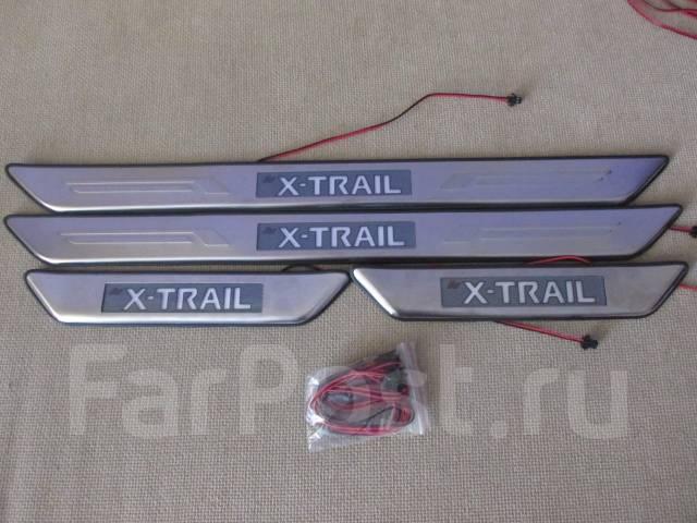 Накладка на порог. Nissan X-Trail, DNT31, NT31, T31, TNT31 Двигатели: M9R, MR20DE, QR25DE