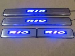Накладка на порог. Kia Rio