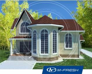 M-fresh Chill out (Проект дома с потрясающим эркером! ). 200-300 кв. м., 2 этажа, 5 комнат, бетон