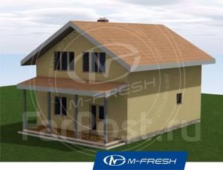 M-fresh Leo (Проект простого и компактного дома! Посмотрите! ). 100-200 кв. м., 2 этажа, 4 комнаты, бетон