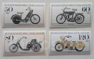1983 Германия. Берлин. Мотоциклы. 4 марки. Чистые