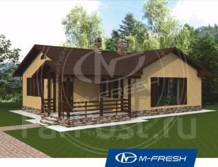 M-fresh Cherry-зеркальный (Одноэтажный жилой дом из блоков). 100-200 кв. м., 1 этаж, 3 комнаты, бетон