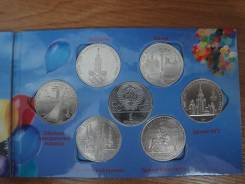 Альбом 6 монет СССР Олимпиада 1980. Оригиналы