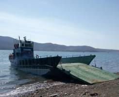 Морские грузо-перевозки до 50 тонн на барже Славянка и Восток. 5 человек, 20км/ч