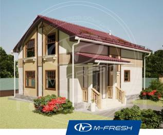 M-fresh Jasmin-зеркальный (Проект компактного дома с мансардой! ). 100-200 кв. м., 2 этажа, 4 комнаты, бетон