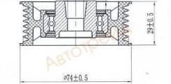 Обводной ролик приводного ремня MMC PAJERO 3,5-3,8/HYUNDAI GALLOPER 3,0 00-14 SAT ST-MD368210