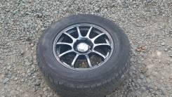 Хром(темный) 4 колеса с резиной. 9.5x18 6x139.70 ET25