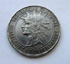 1 франк 1921 год Французская Гваделупа.