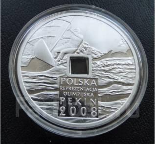 10 злотых.2008г. Польша. Олимпиада в Пекине. Серебро. Proof.