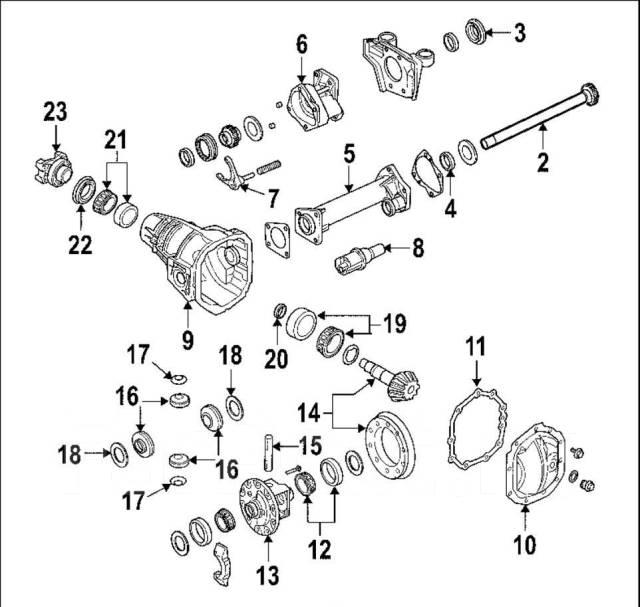 Сальник хвостовика редуктора моста. Chevrolet Colorado Chevrolet TrailBlazer Chevrolet S10 GMC Canyon Hummer H3 Двигатели: LCV, LE6, LFX, LKH, LP2, LP...