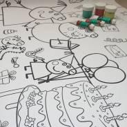 Раскраска для детей Свинка Пеппа. Под заказ
