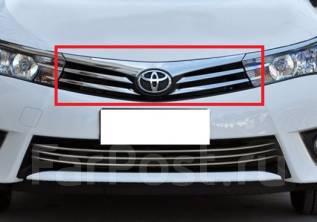 Молдинг решетки радиатора. Toyota Corolla, ZRE182, NDE160, ZRE181, ZRE161, NRE180, NRE160 Двигатели: 2ZRFE, 1NDTV, 1ZRFE, 1ZRFAE, 1NRFE